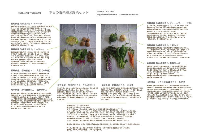 2月19日 本日のお野菜セットの内容です。